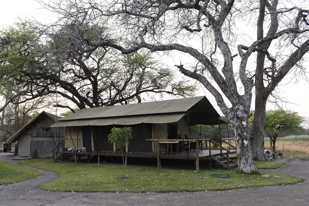 The small and stylish Ondjou Safaris hunting camp in Dzoti Conservancy. Helge Denker photo